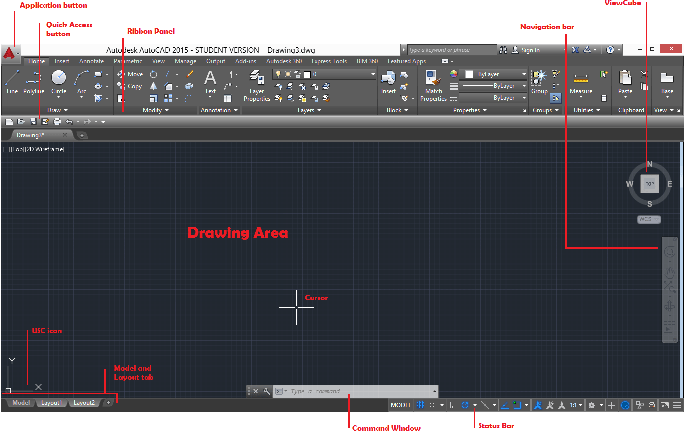 how to change menu in autocad