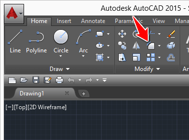 autocad how to put in arrow on angle