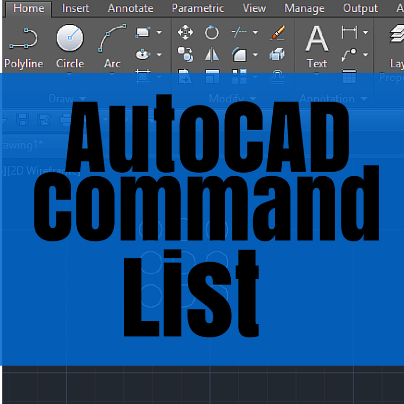 Autocad Command List Tutorial45