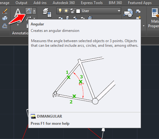 Measure The Distance And Angle Between 2 Points In Autocad Tutorial45