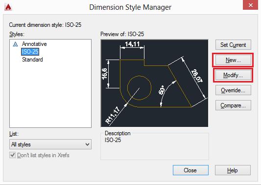 dimension-autocad