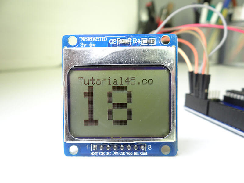 Arduino count up timer using the nokia lcd tutorial