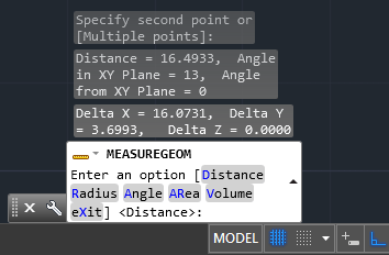 Measure the Distance and Angle Between 2 Points in AutoCAD